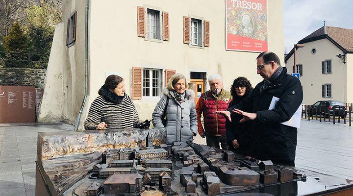 La Mairie de Vandœuvres en visite à L'Abbaye de Saint-Maurice!
