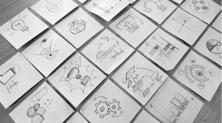 Post it brainstorm et développement de jeu vidéo