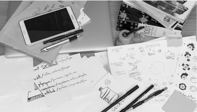 sketch scénario de jeu seance de travail digital kingdom